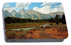 Portable Battery Charger featuring the photograph Tetons Grande 5 by Marty Koch