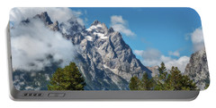 Tetons In Clouds Portable Battery Charger