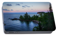 Portable Battery Charger featuring the photograph Tettegouche Sunset by Heidi Hermes