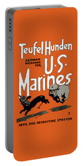 Teufel Hunden - German Nickname For Us Marines Portable Battery Charger