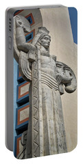 Portable Battery Charger featuring the photograph Texas Art Deco Sculpture by David and Carol Kelly