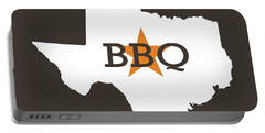Portable Battery Charger featuring the digital art Texas Bbq by Nancy Ingersoll