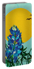 Texas Bluebonnet Portable Battery Charger by Diane Miller