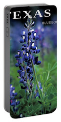 Portable Battery Charger featuring the mixed media Texas Bluebonnet State Flower by Daniel Hagerman