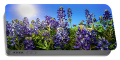 Texas Bluebonnets Backlit II Portable Battery Charger