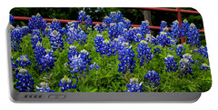Texas Bluebonnets In Ennis Portable Battery Charger