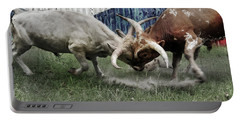 Texas Bull Fight  Portable Battery Charger
