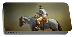 Portable Battery Charger featuring the photograph Texas Cowboy And His Horse by David and Carol Kelly