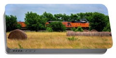 Texas Freight Train Portable Battery Charger by Kelly Wade
