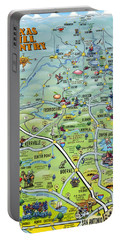 Texas Hill Country Cartoon Map Portable Battery Charger