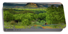 Texas Hill Country Ranch Road Portable Battery Charger by Darryl Dalton