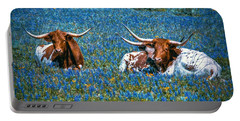 Texas In Blue Portable Battery Charger