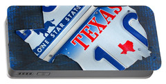 Texas License Plate Map Portable Battery Charger by Design Turnpike