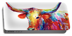 Texas Longhorn Art Portable Battery Charger by Svetlana Novikova
