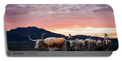 Texas Longhorn Orange Morning Portable Battery Charger