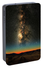 Portable Battery Charger featuring the photograph Texas Milky Way by Larry Landolfi