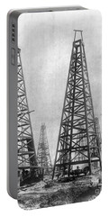 Texas: Oil Derricks, C1901 Portable Battery Charger