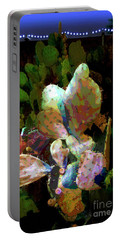Texas Prickly Pear Posterized Photograph Portable Battery Charger