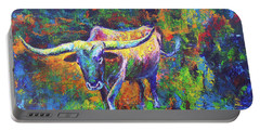Texas Pride Portable Battery Charger by Karen Kennedy Chatham
