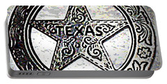 Portable Battery Charger featuring the photograph Texas Ranger Badge by George Pedro