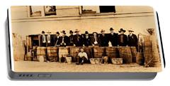 Portable Battery Charger featuring the photograph Texas Rangers Grand Haul Of Bootleggers 1922 Near Tyler Texas by Peter Gumaer Ogden