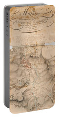 Texas Revolution Santa Anna 1835 Map For The Battle Of San Jacinto  Portable Battery Charger