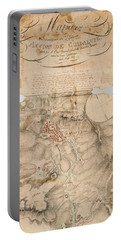 Texas Revolution Santa Anna 1835 Map For The Battle Of San Jacinto With Border Portable Battery Charger