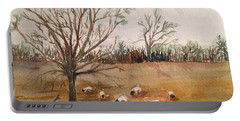 Texas Sheep Portable Battery Charger by Christine Lathrop