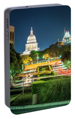 Portable Battery Charger featuring the photograph Texas State Capitol University Of Texas by Andy Crawford