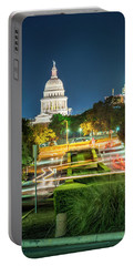 Texas State Capitol University Of Texas Portable Battery Charger by Andy Crawford