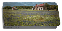 Portable Battery Charger featuring the photograph Texas Stone House by Linda Unger