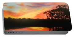 Texas Sunset Silhouette Portable Battery Charger