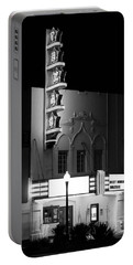 Texas Theater Oak Cliff Bw Portable Battery Charger