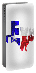 Texas Typographic Map Flag Portable Battery Charger