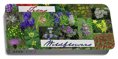 Texas Wildflower Collage Portable Battery Charger