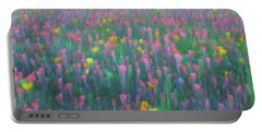 Texas Wildflowers Abstract Portable Battery Charger