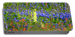 Texas Wildflowers Portable Battery Charger by Kathy White