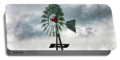 Portable Battery Charger featuring the photograph Texas Windmill by Joan Bertucci