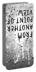 Portable Battery Charger featuring the digital art Text Art From Another Point Of View - Splashes by Melanie Viola