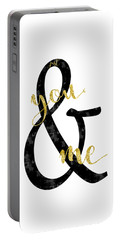Portable Battery Charger featuring the digital art Text Art Just You And Me by Melanie Viola