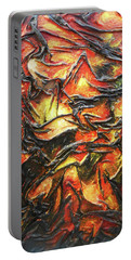 Texture Of Fire Portable Battery Charger by Angela Stout