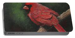 Textured Cardinal Portable Battery Charger