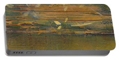 Portable Battery Charger featuring the painting Textured Close Up by Patricia Cleasby