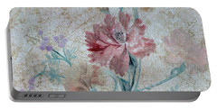 Textured Florals No.1 Portable Battery Charger