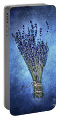 Textured Lavender  Portable Battery Charger by Stephanie Frey