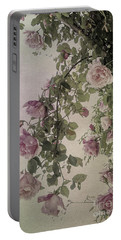 Textured Roses Portable Battery Charger