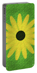 Textured Yellow Daisy Portable Battery Charger