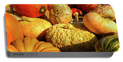 Textures Of Fall Portable Battery Charger by Rod Seel