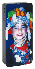 Portable Battery Charger featuring the photograph Thai Girl Traditionally Dressed by Heiko Koehrer-Wagner