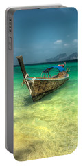 Thai Longboat  Portable Battery Charger by Adrian Evans